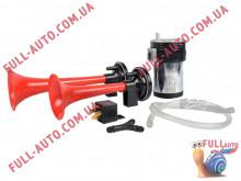 Автомобильный звуковой сигнал воздушный Elegant 100 744 2 дудки красный