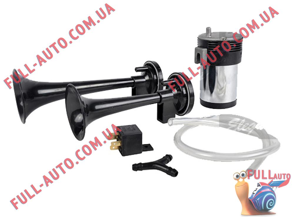 Автомобильный звуковой сигнал воздушный Elegant 100 742 2 дудки черный