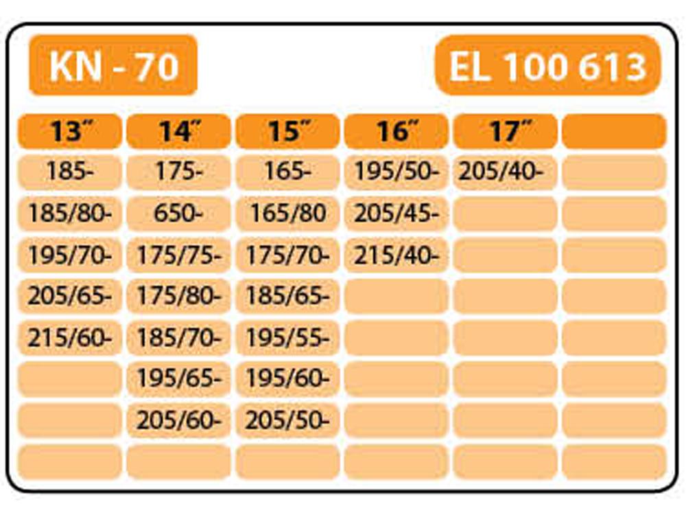 Цепи противоскольжения Elegant 100 613 KN-70 12 мм