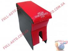 Подлокотник С вышивкой красный Chevrolet Aveo T200, T250